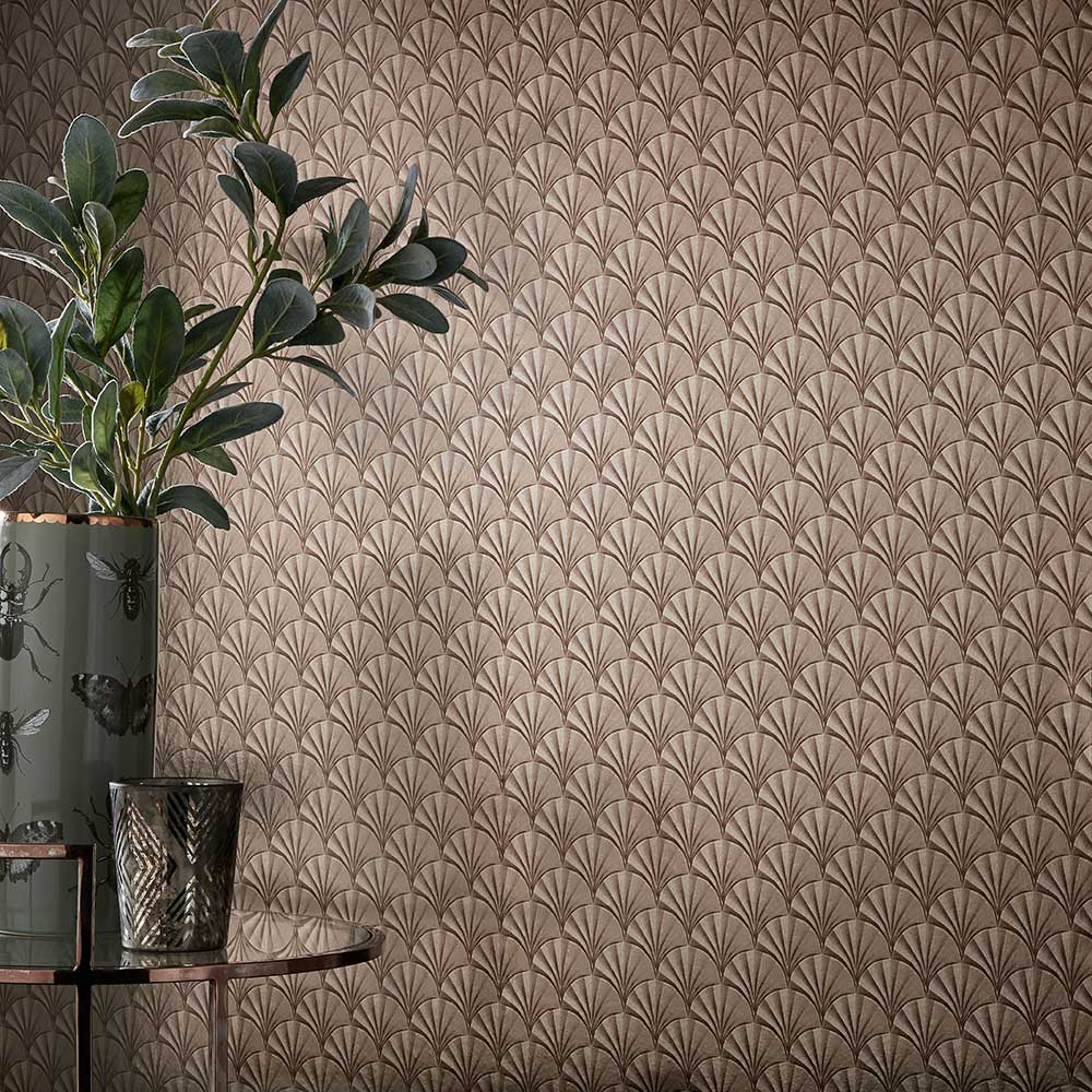 Elodie Wallpaper - Burnished - by 1838 Wallcoverings
