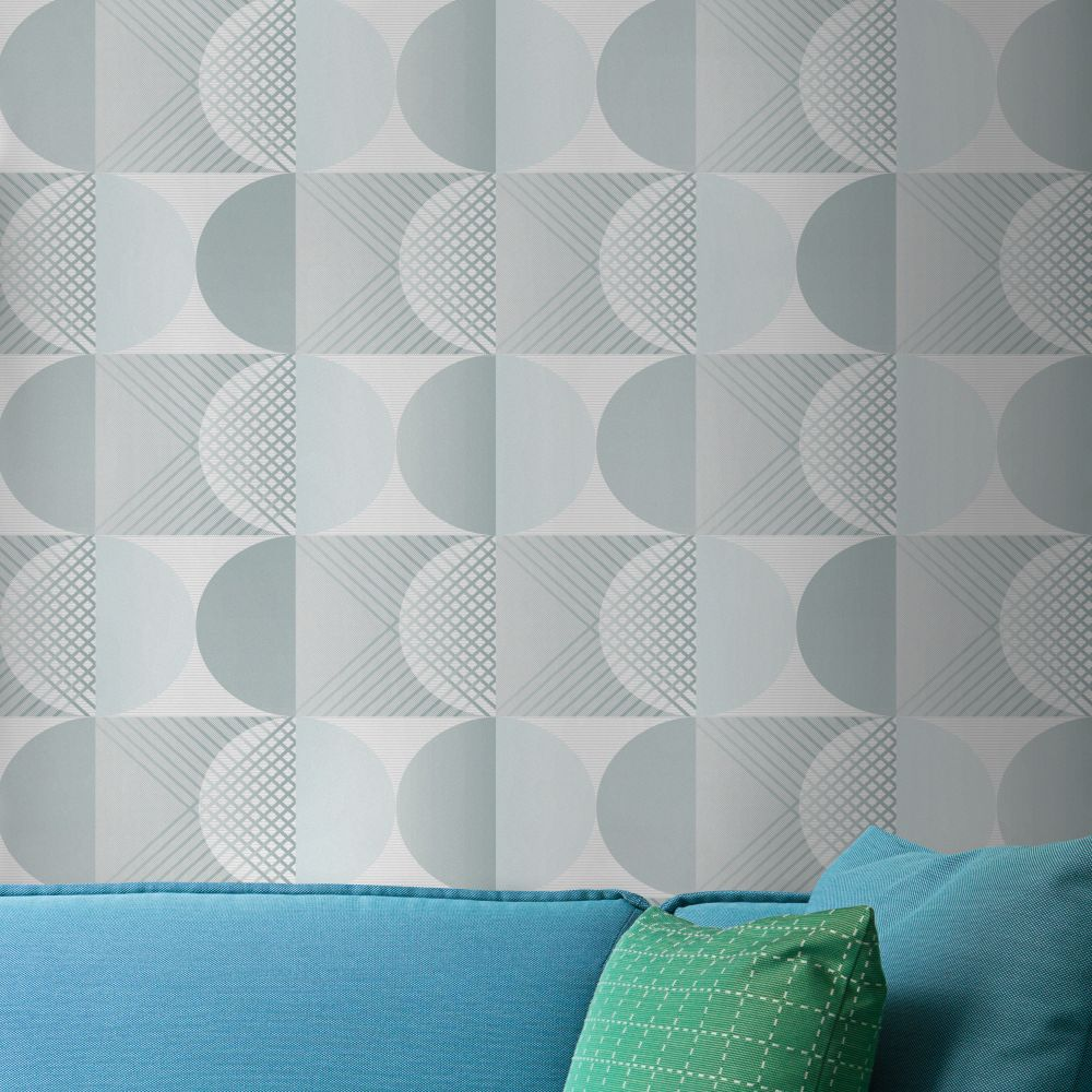 Tres Tintas Round Green Wallpaper - Product code: 2903-4
