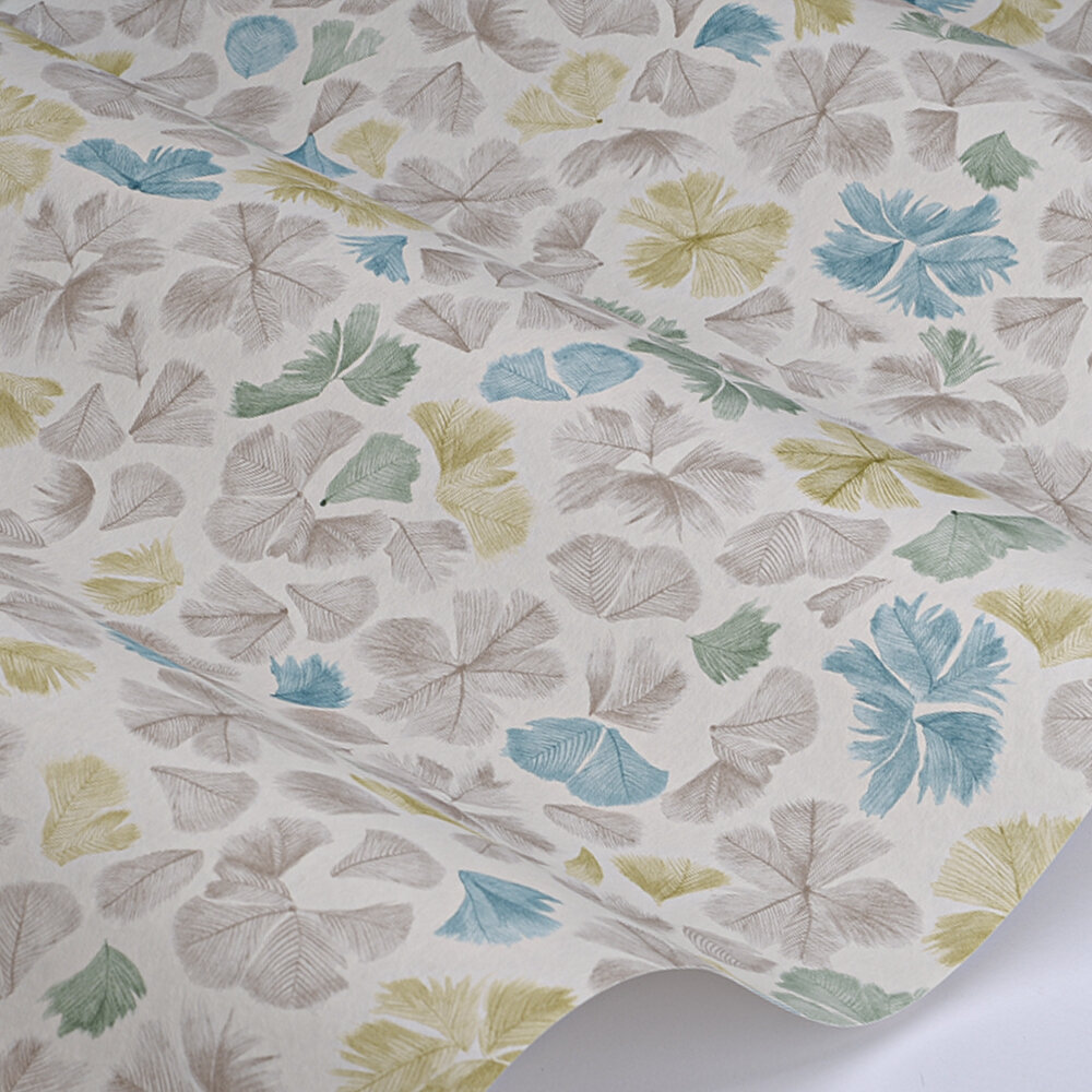Feather Flora Wallpaper - Scallion - by Paint & Paper Library