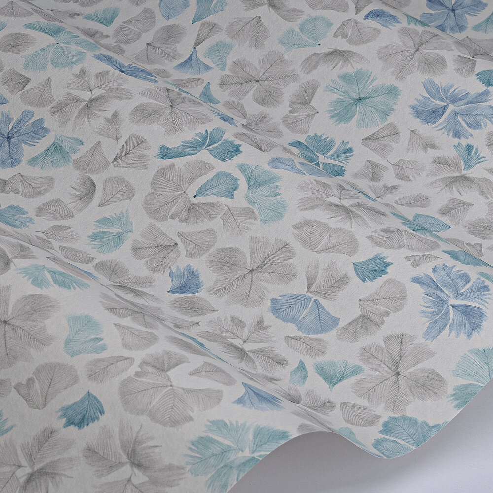 Feather Flora Wallpaper - Constantia Blue - by Paint & Paper Library