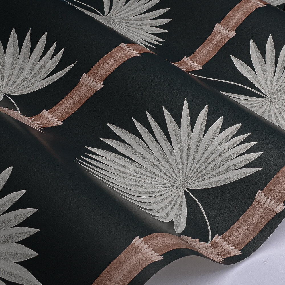 Hardy Palm Wallpaper - Acqua Viva - by Paint & Paper Library