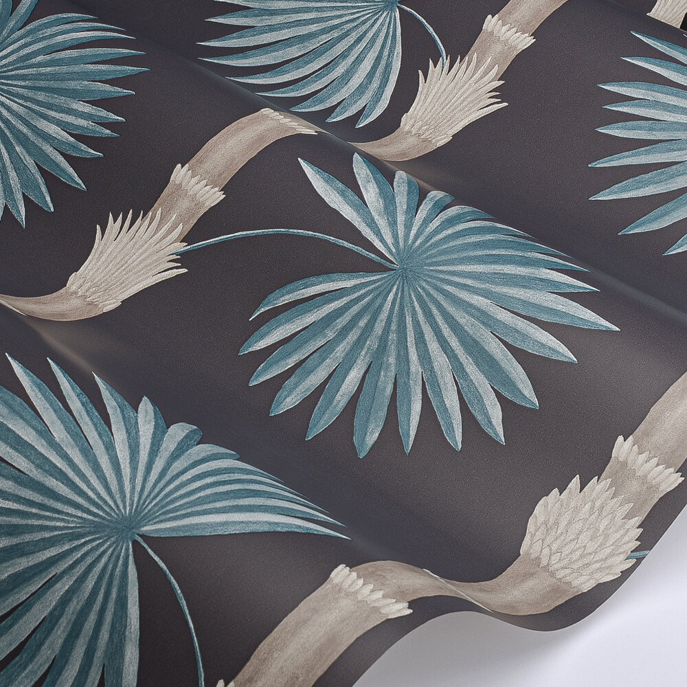 Hardy Palm Wallpaper - Perse Grey - by Paint & Paper Library