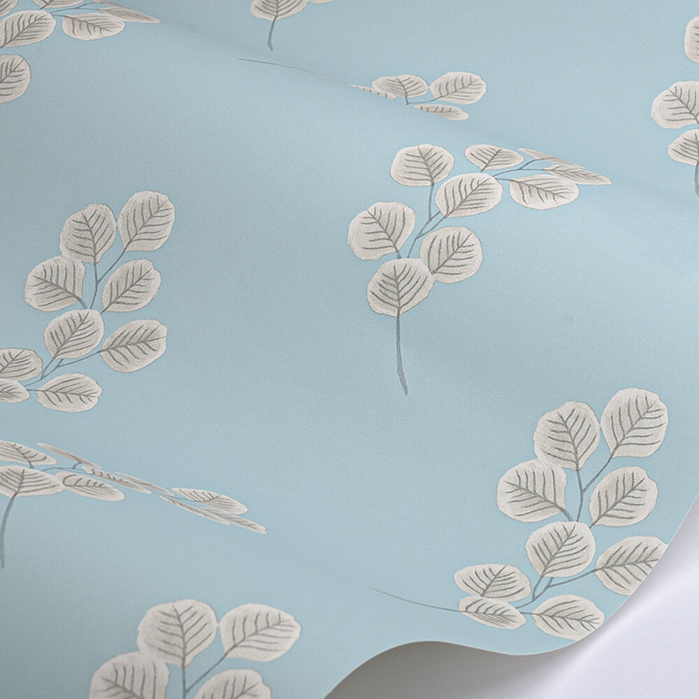 Honesty Wallpaper - Constantia Blue - by Paint & Paper Library