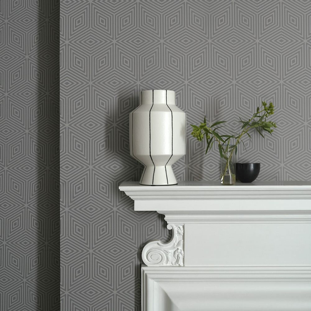 Paint & Paper Library Marquetry Tile Slate V Wallpaper - Product code: 0360MASLATE