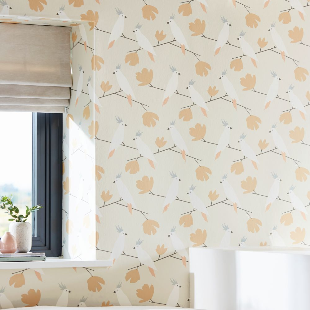 Scion Love Birds Blush Wallpaper - Product code: 112221