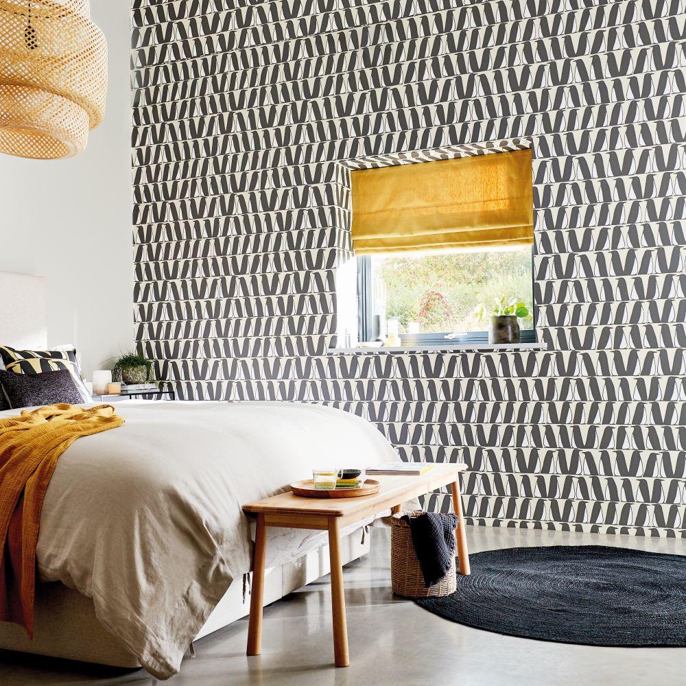 Pedro Wallpaper - Truffle - by Scion