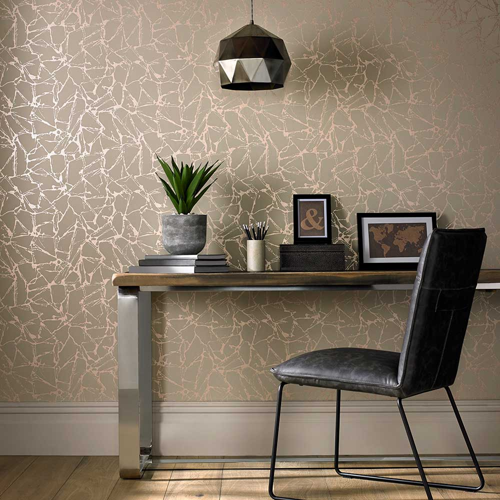 1838 Wallcoverings Glaze Coral Wallpaper - Product code: 1703-111-02