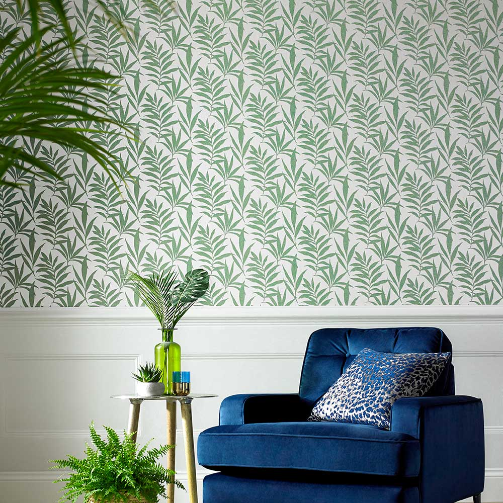 1838 Wallcoverings Verdi Green Wallpaper - Product code: 1703-113-04
