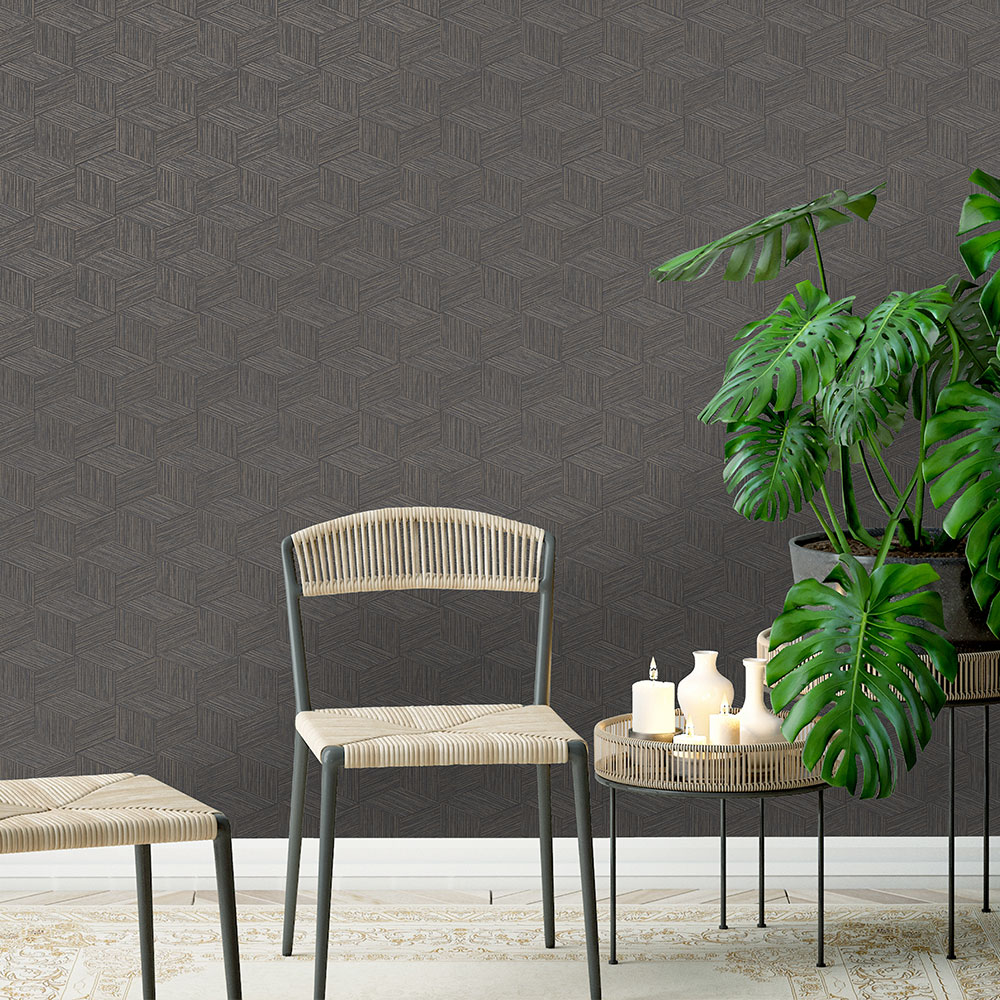 Albany Bakau Charcoal Wallpaper - Product code: 65642