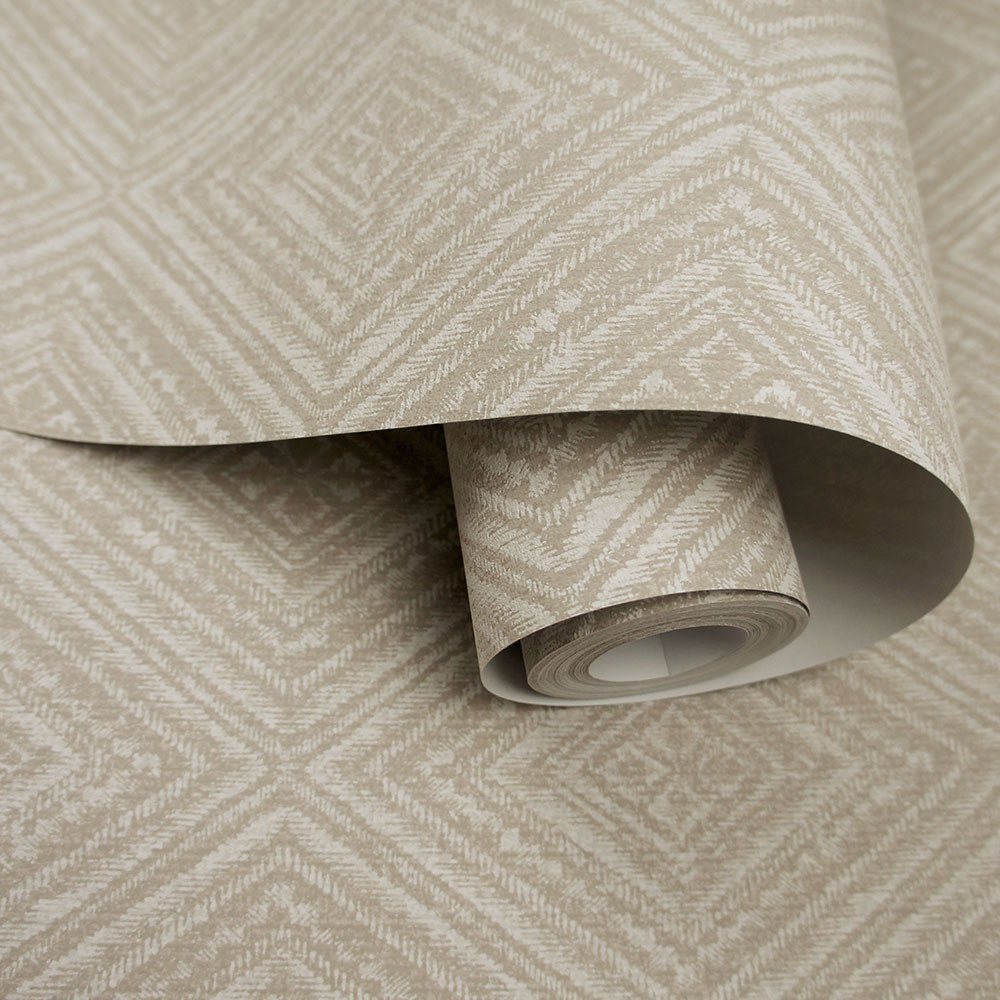 Imani  Wallpaper - Taupe - by Albany