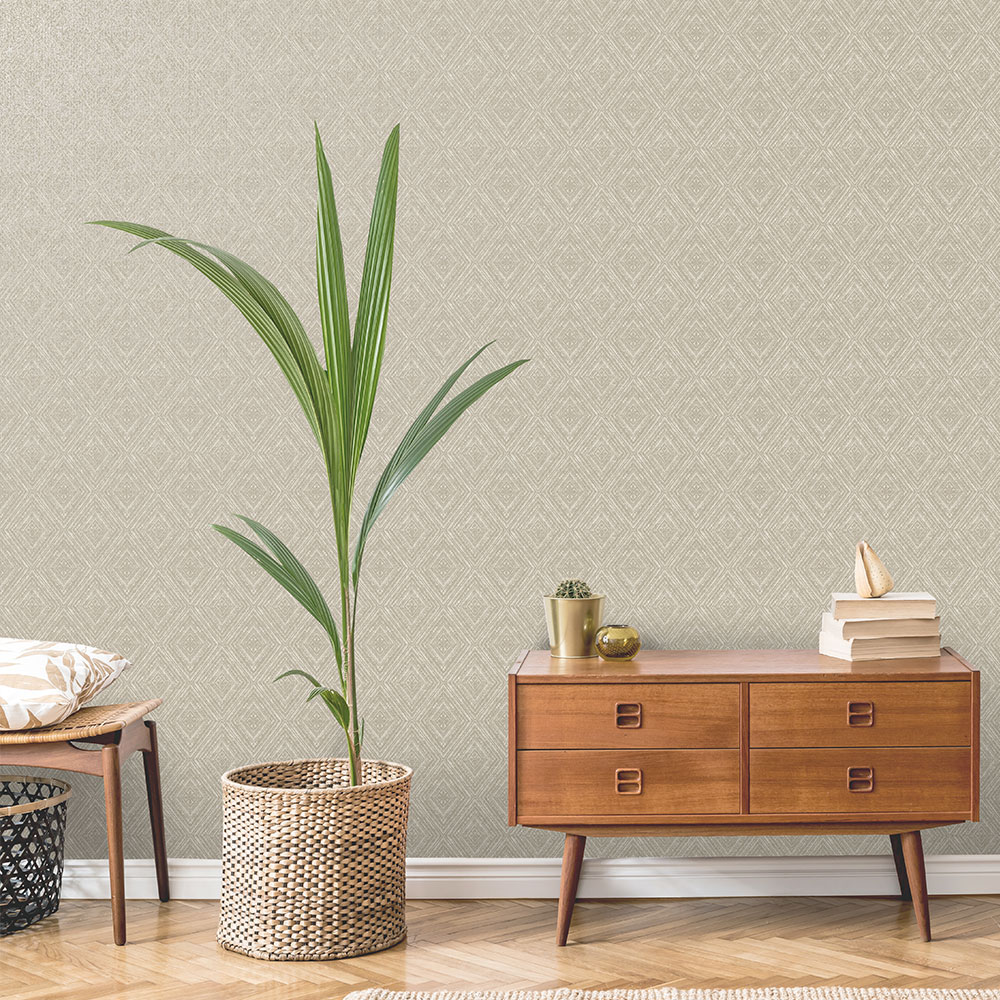 Albany Imani  Taupe Wallpaper - Product code: 65671
