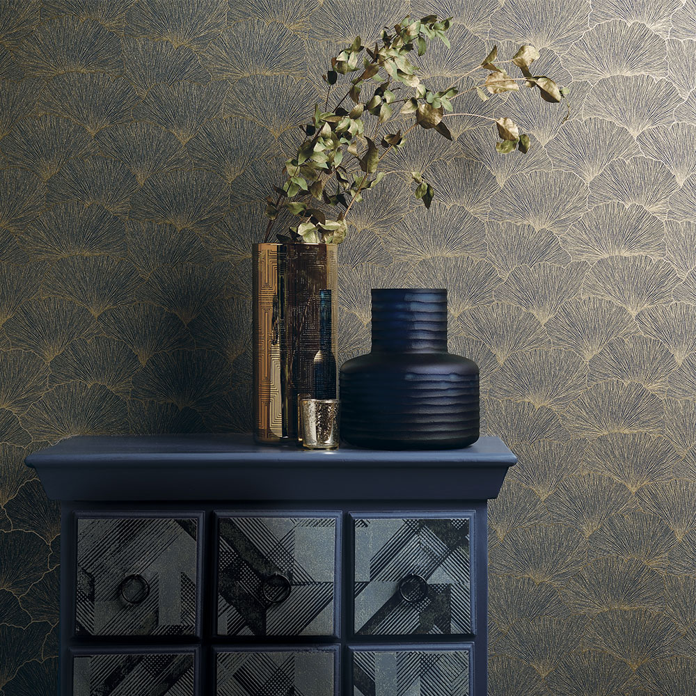 Albany Remi Navy Wallpaper - Product code: 65682