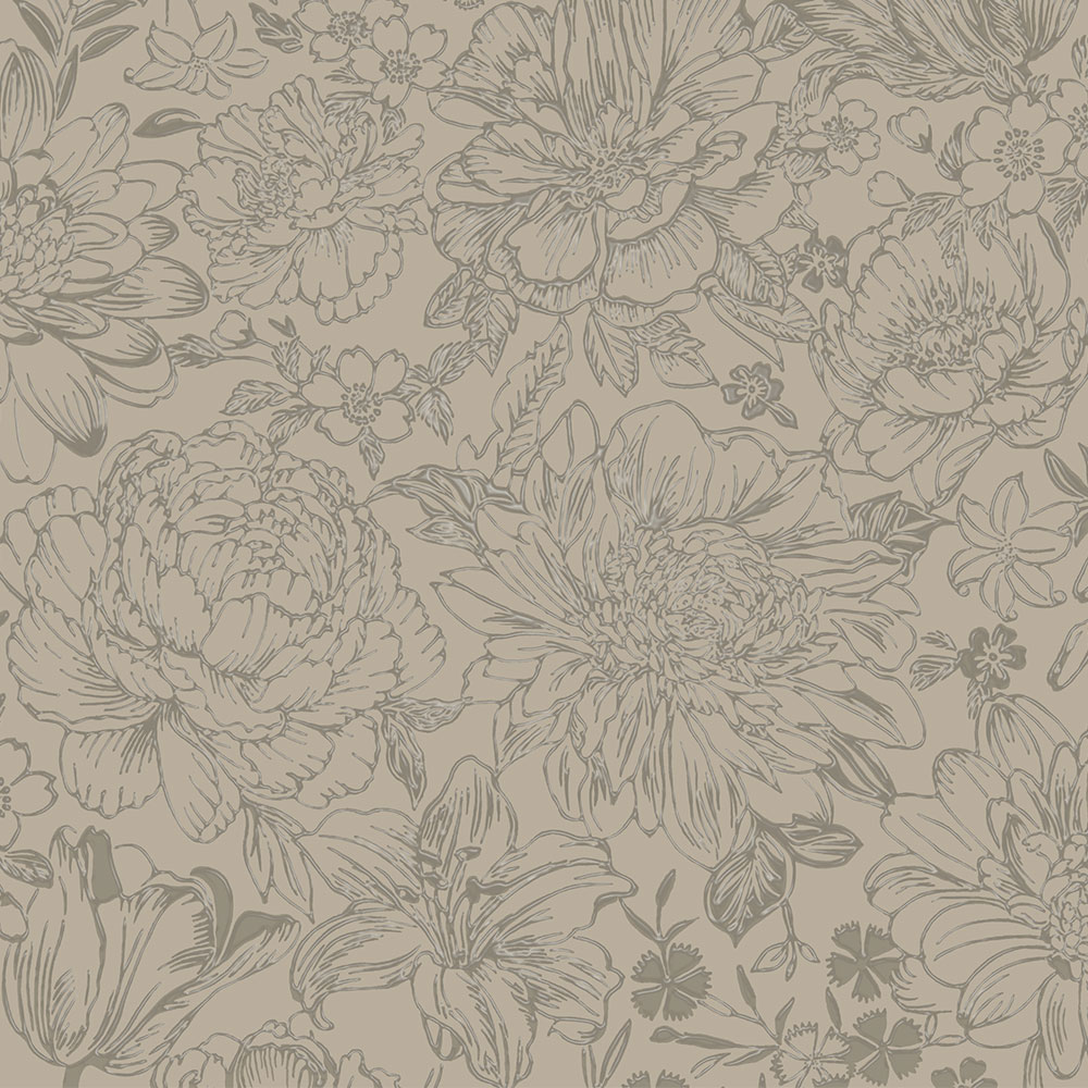 Imogen Wallpaper - Taupe - by Albany