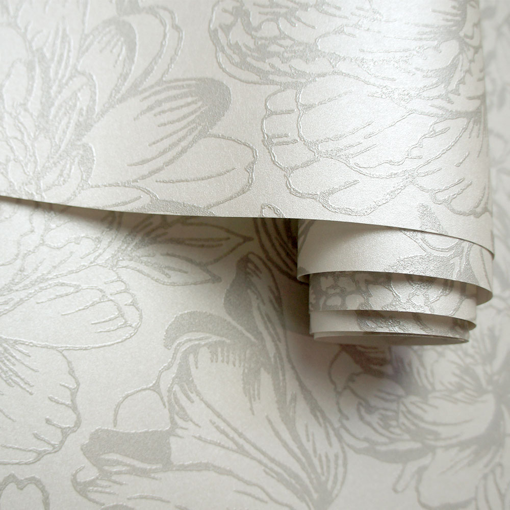 Imogen Wallpaper - Cream - by Albany