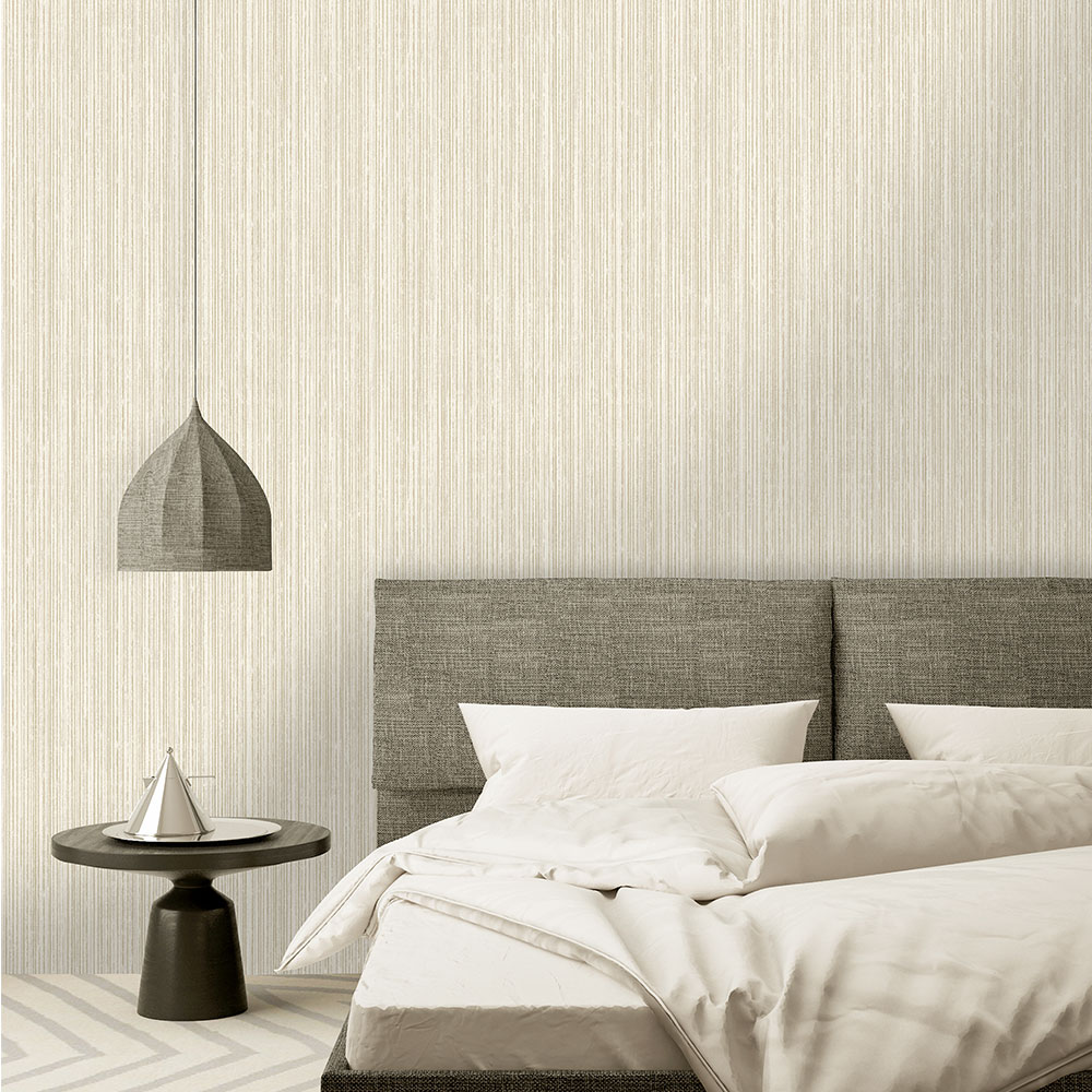 Adeline Wallpaper - Cream/ Gold - by Albany