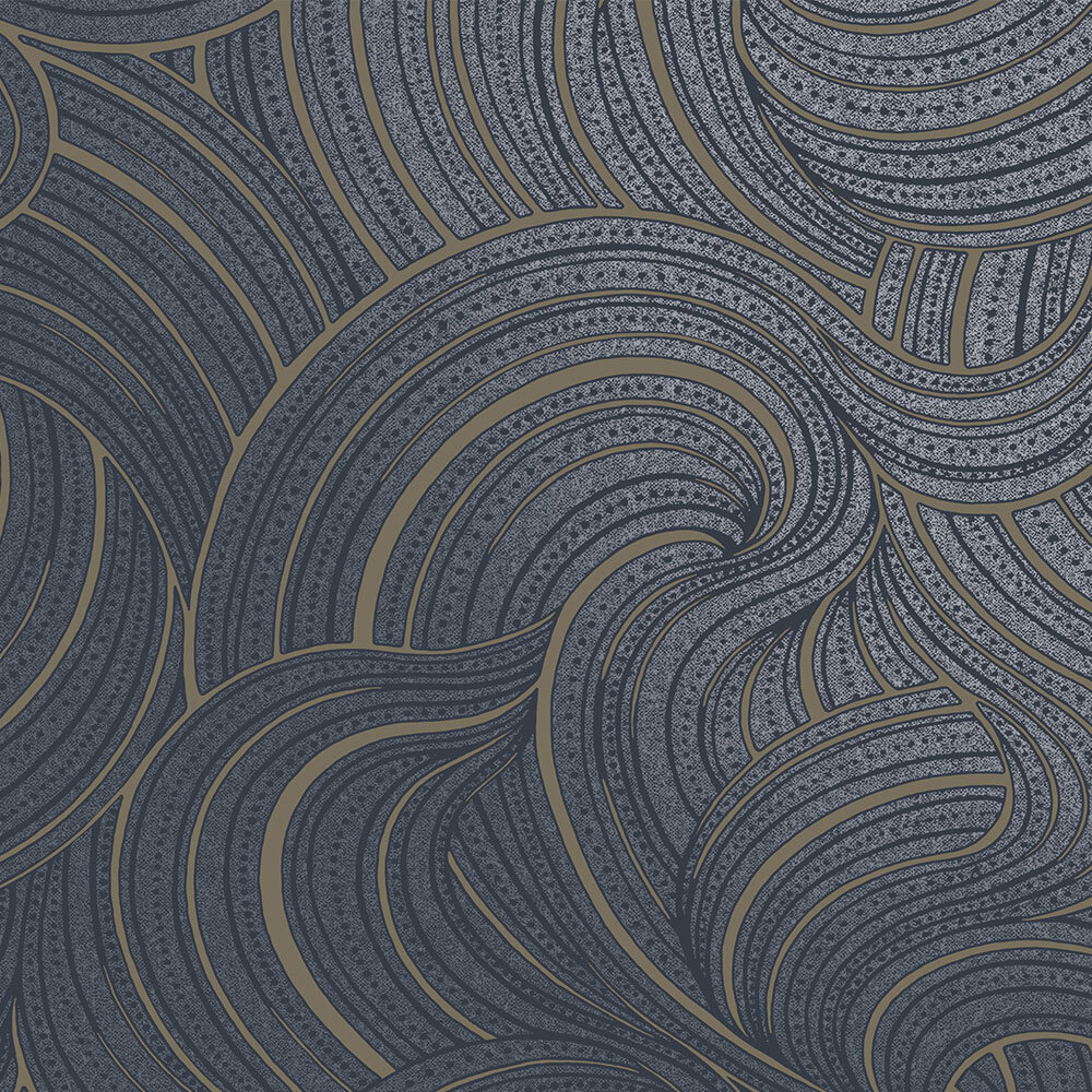 Albany Aurora  Navy Wallpaper - Product code: 65723