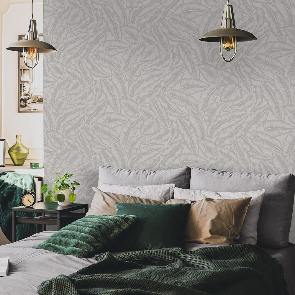 Elgin  Wallpaper - Grey - by Albany