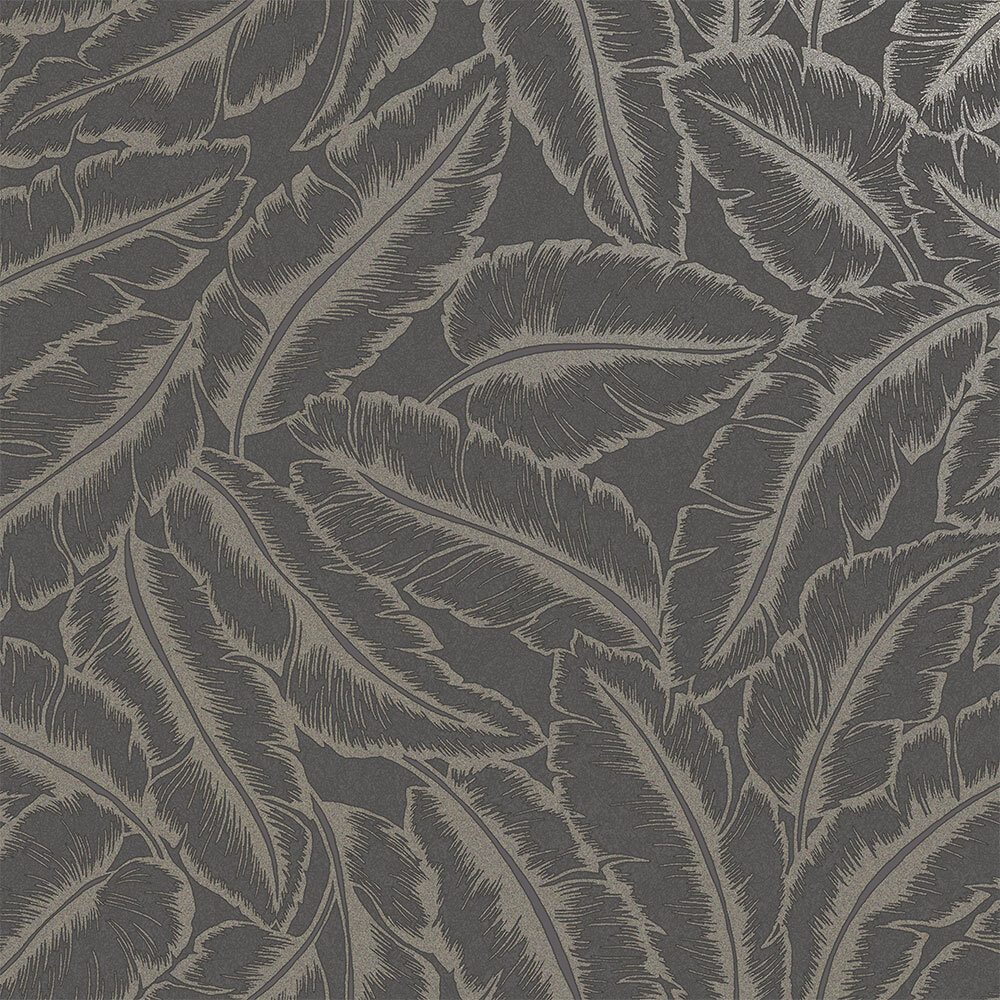 Elgin  Wallpaper - Slate/ Gold - by Albany