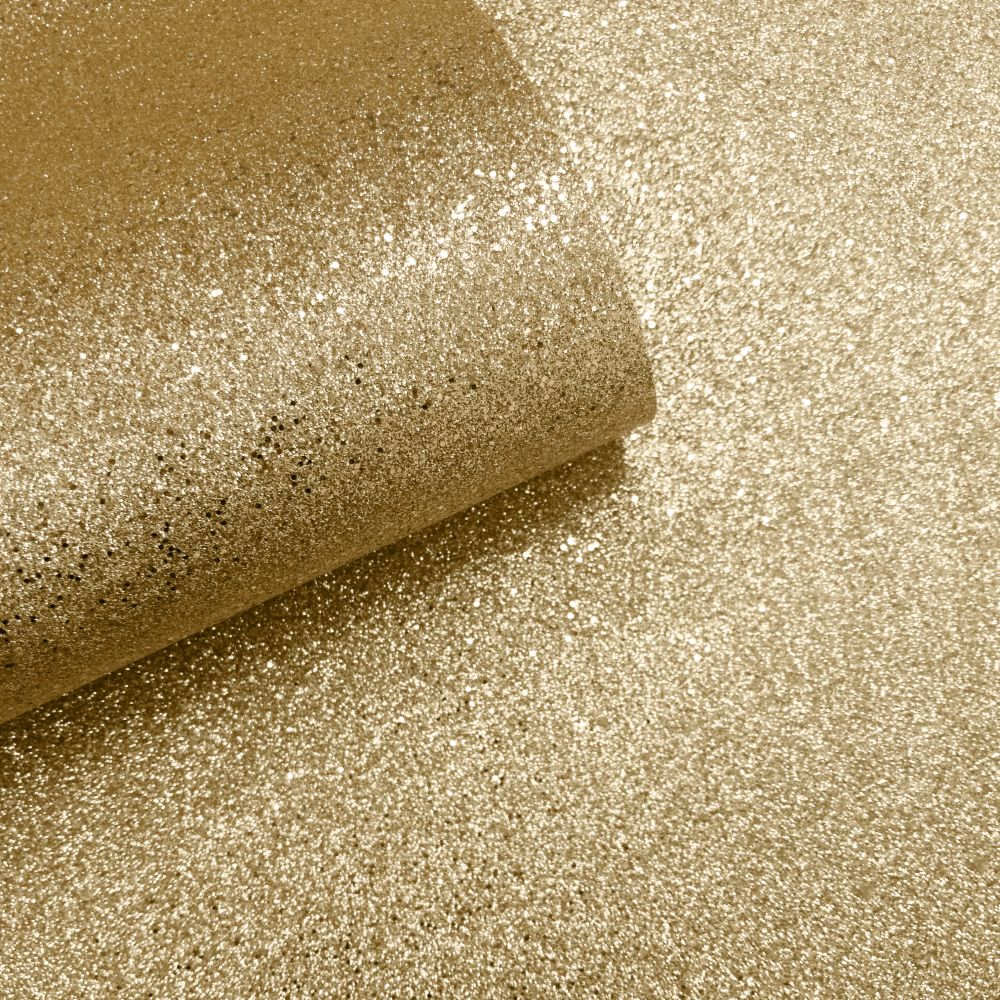 Oriah Glitter Wallpaper - Gold - by Albany