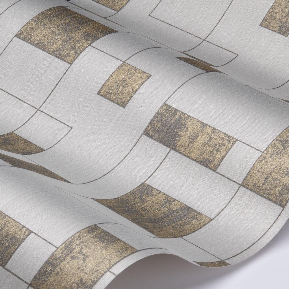 Kubus Wallpaper - Grey - by Elite Wallpapers