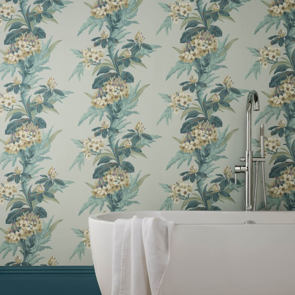 Aurora Wallpaper - Seafoam - by 1838 Wallcoverings