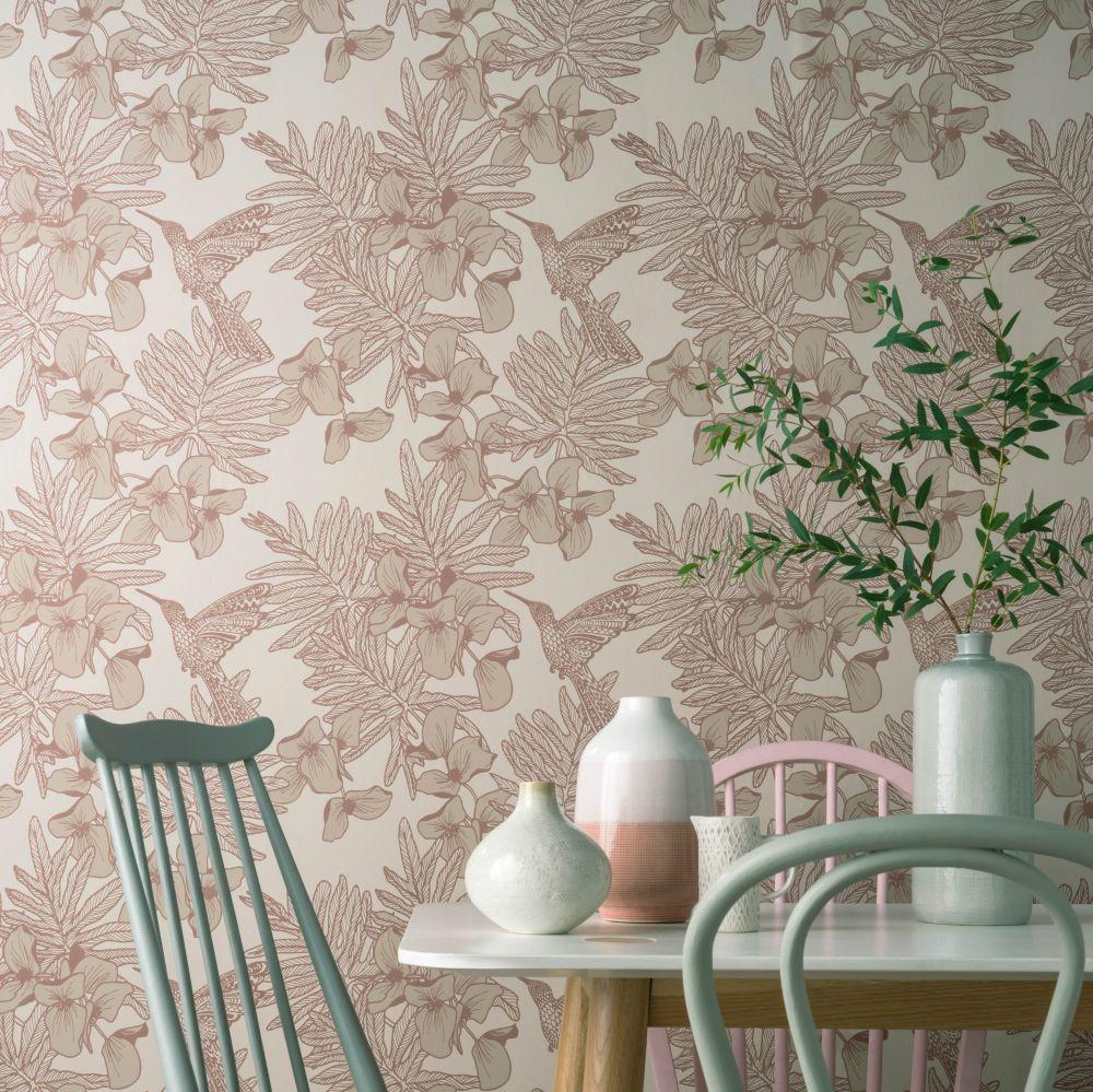 1838 Wallcoverings Hummingbird Beach Wallpaper - Product code: 1804-117-04