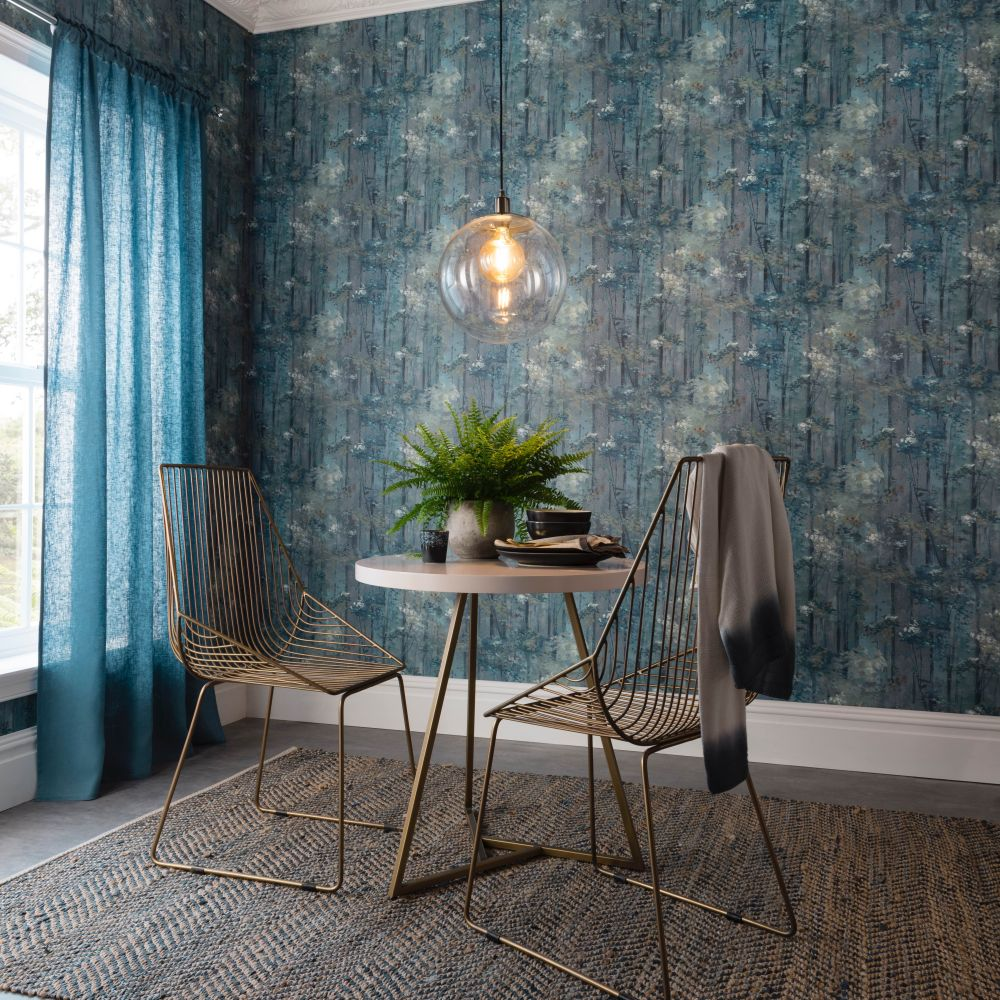 Glade Wallpaper - Lagoon - by 1838 Wallcoverings