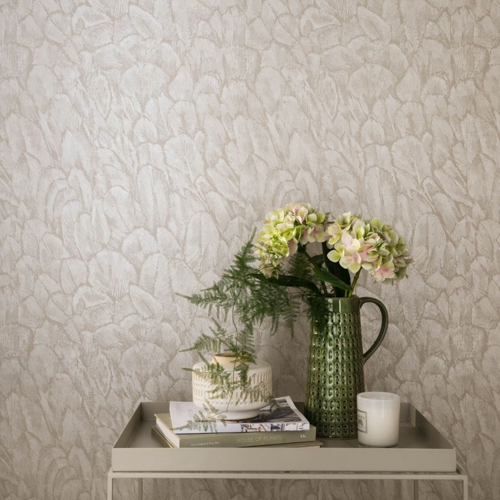Tranquil Wallpaper - Pearl - by 1838 Wallcoverings