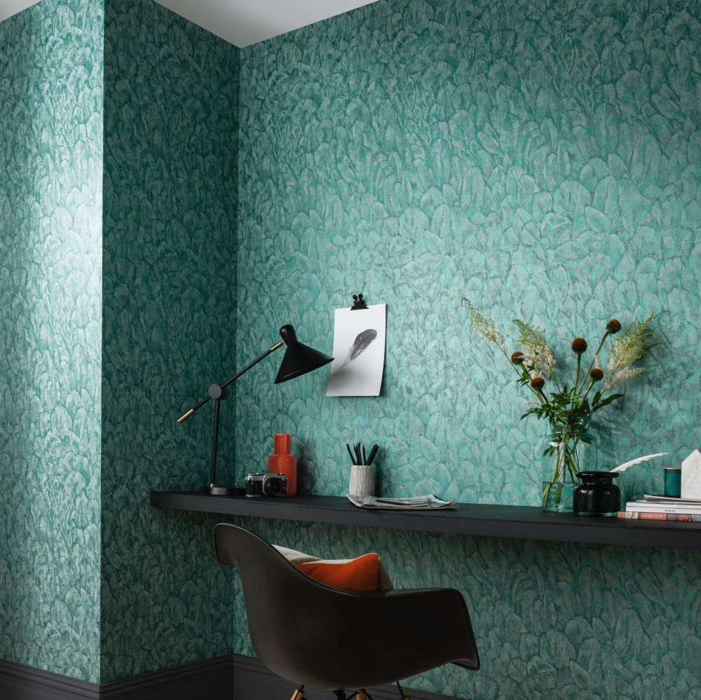 Tranquil Wallpaper - Seafoam - by 1838 Wallcoverings