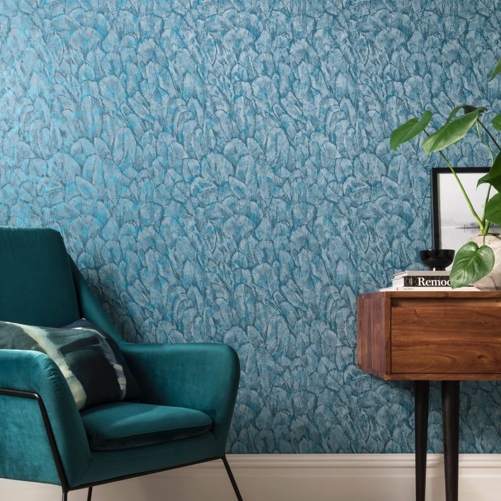 Tranquil Wallpaper - Lagoon - by 1838 Wallcoverings