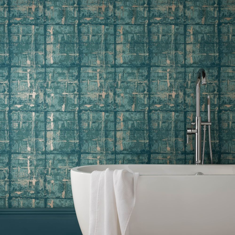 Patina Wallpaper - Seafoam - by 1838 Wallcoverings