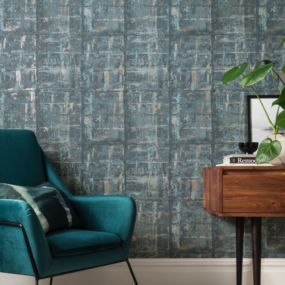 Patina Wallpaper - Lagoon - by 1838 Wallcoverings