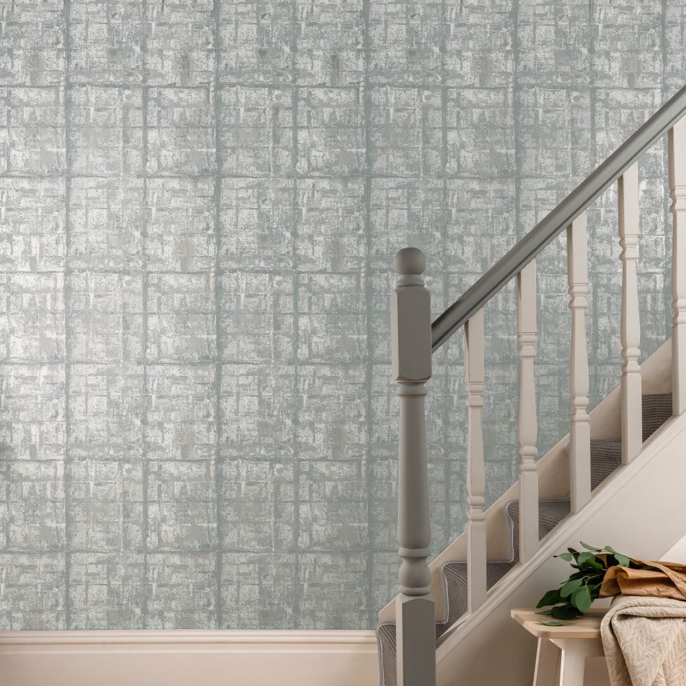 Patina Wallpaper - Mist - by 1838 Wallcoverings
