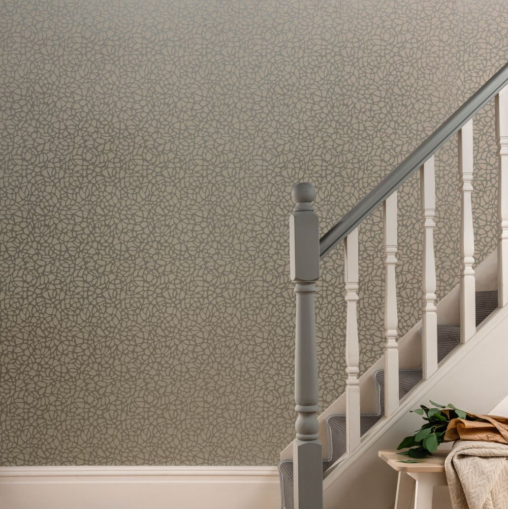 1838 Wallcoverings Pebble Mist Wallpaper - Product code: 1804-121-02