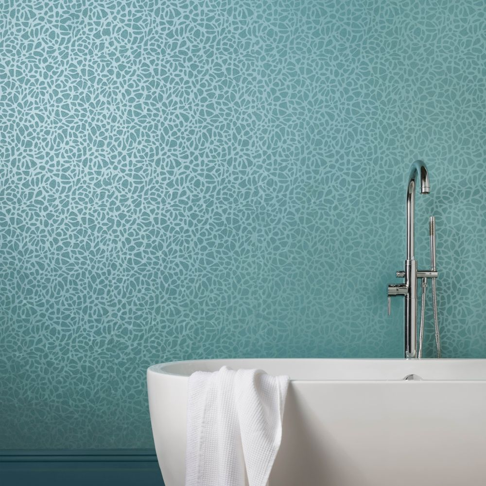 Pebble Wallpaper - Seafoam - by 1838 Wallcoverings