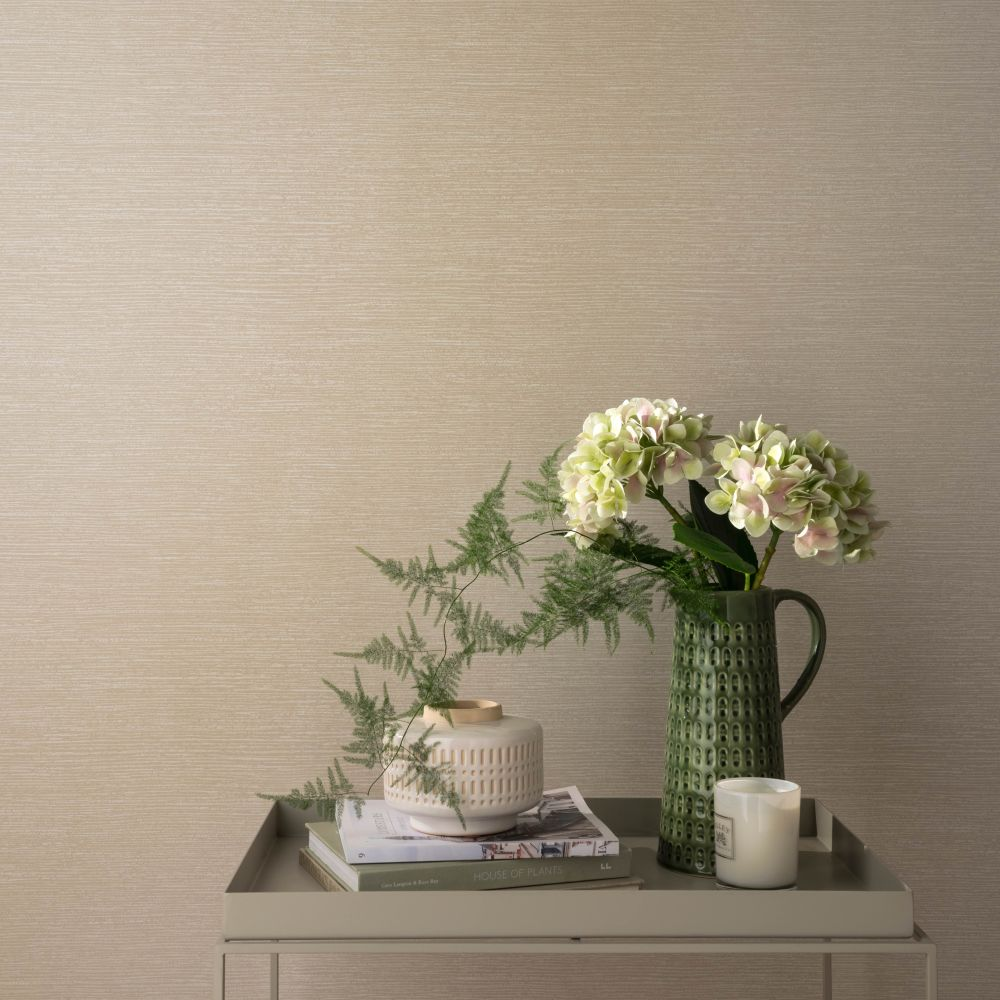 1838 Wallcoverings Raffia Pearl Wallpaper - Product code: 1804-122-04
