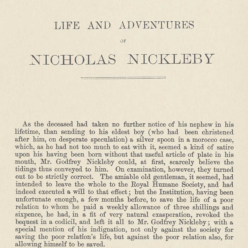 Nicholas Nickleby Mural - Black / White - by Andrew Martin