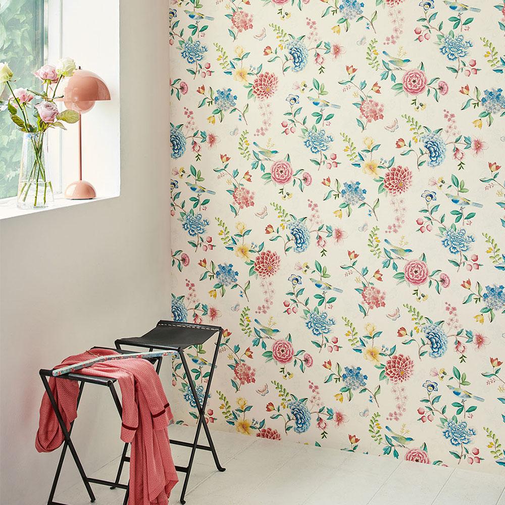 Good Evening Wallpaper - White - by Eijffinger