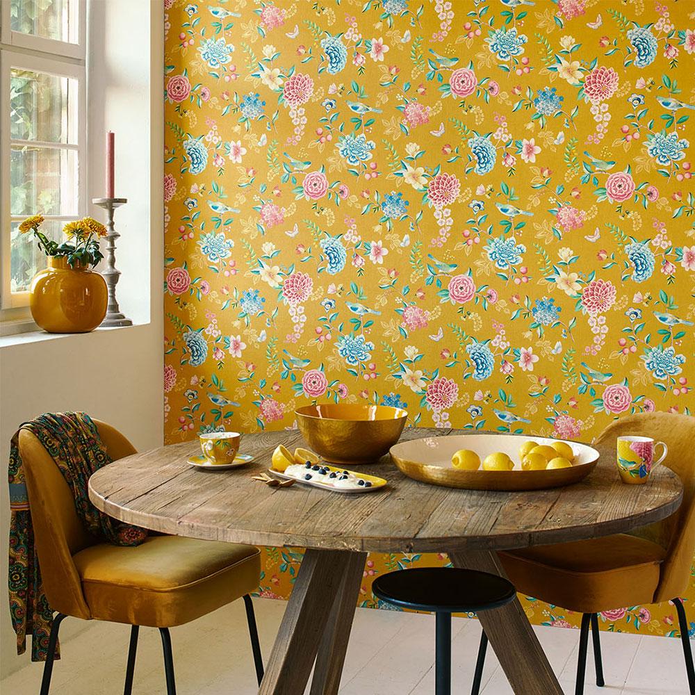 Good Evening Wallpaper - Yellow - by Eijffinger