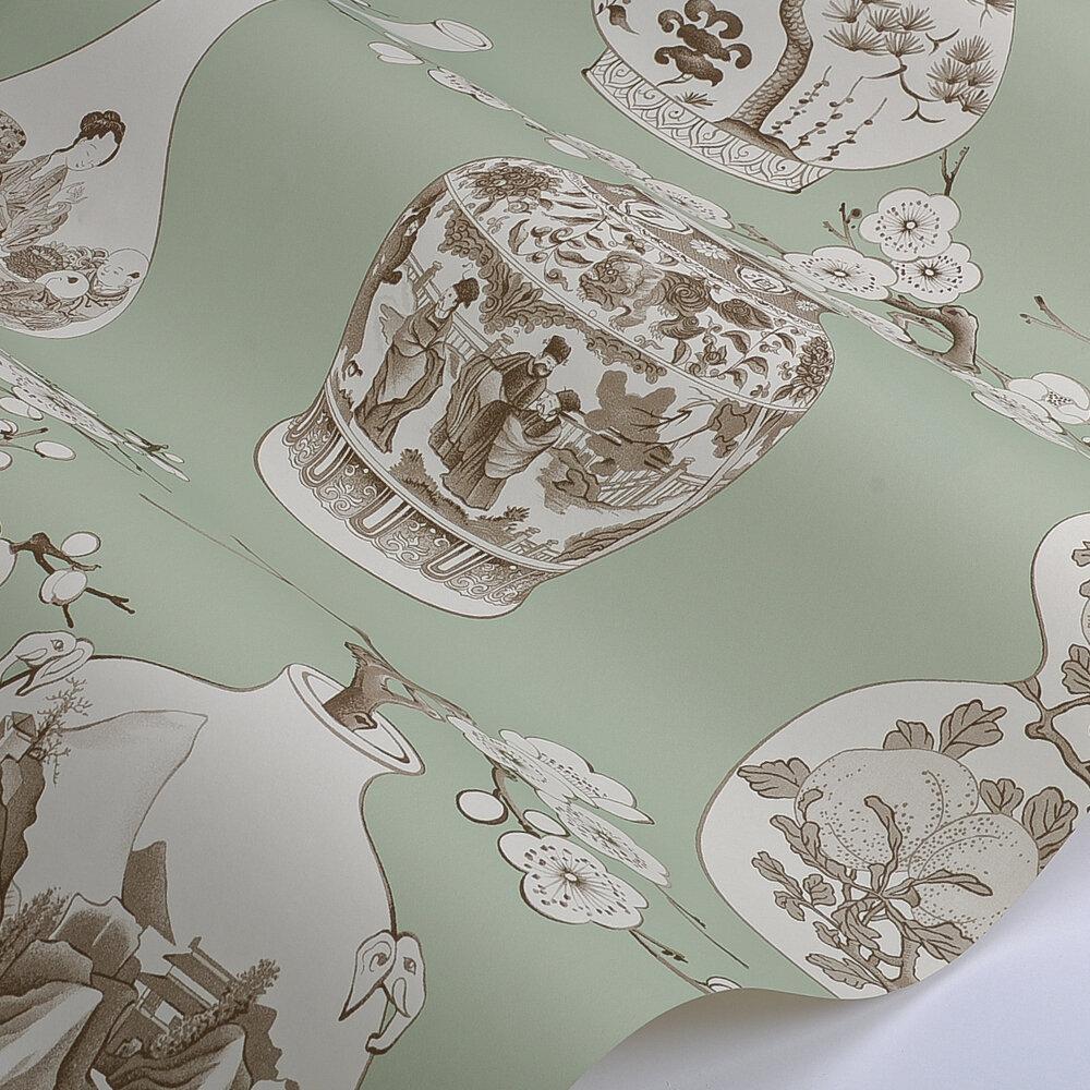 Belem  Wallpaper - Celadon - by Manuel Canovas
