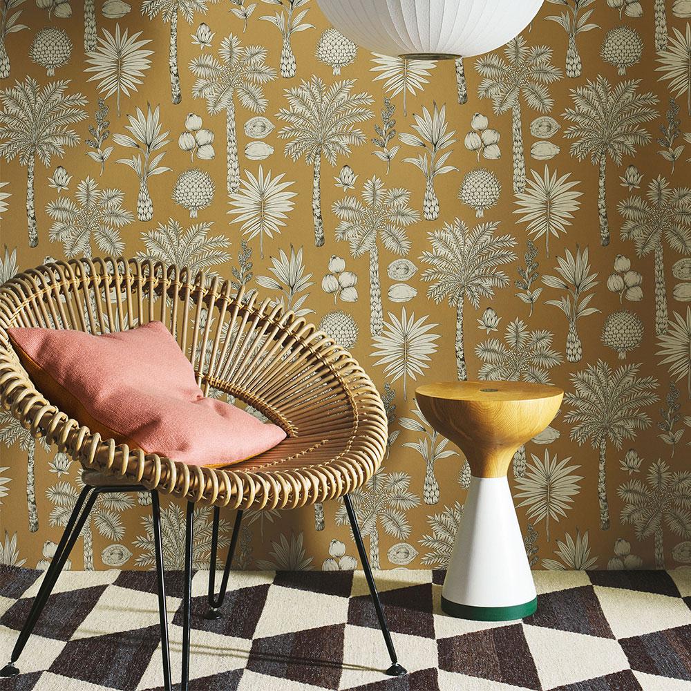 Cote D'Azur Wallpaper - Copper - by Manuel Canovas
