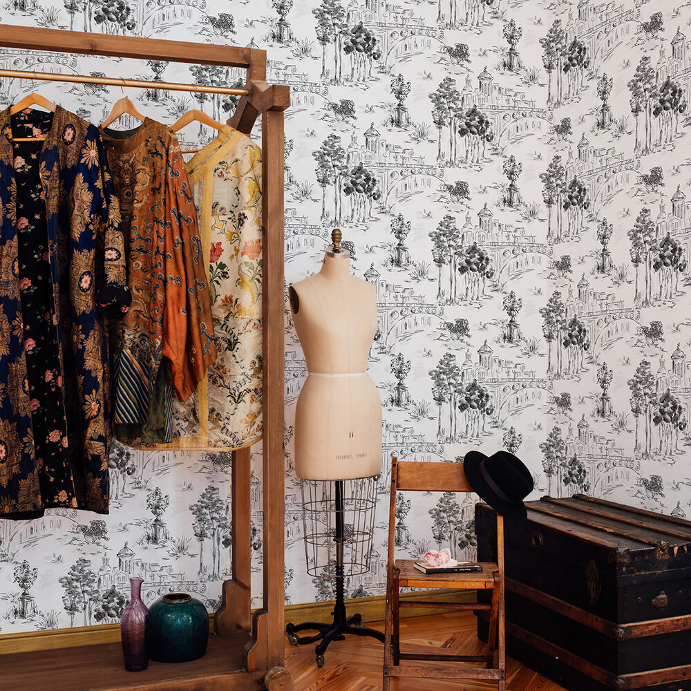 Paisaje Wallpaper - Black - by Coordonne