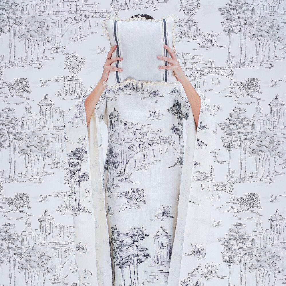 Paisaje Wallpaper - Silver - by Coordonne