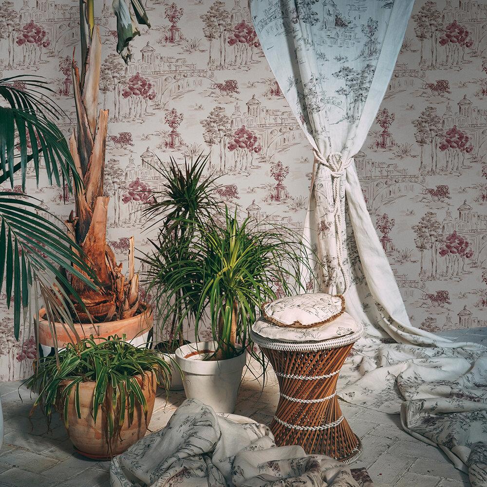 Paisaje Wallpaper - Pink - by Coordonne