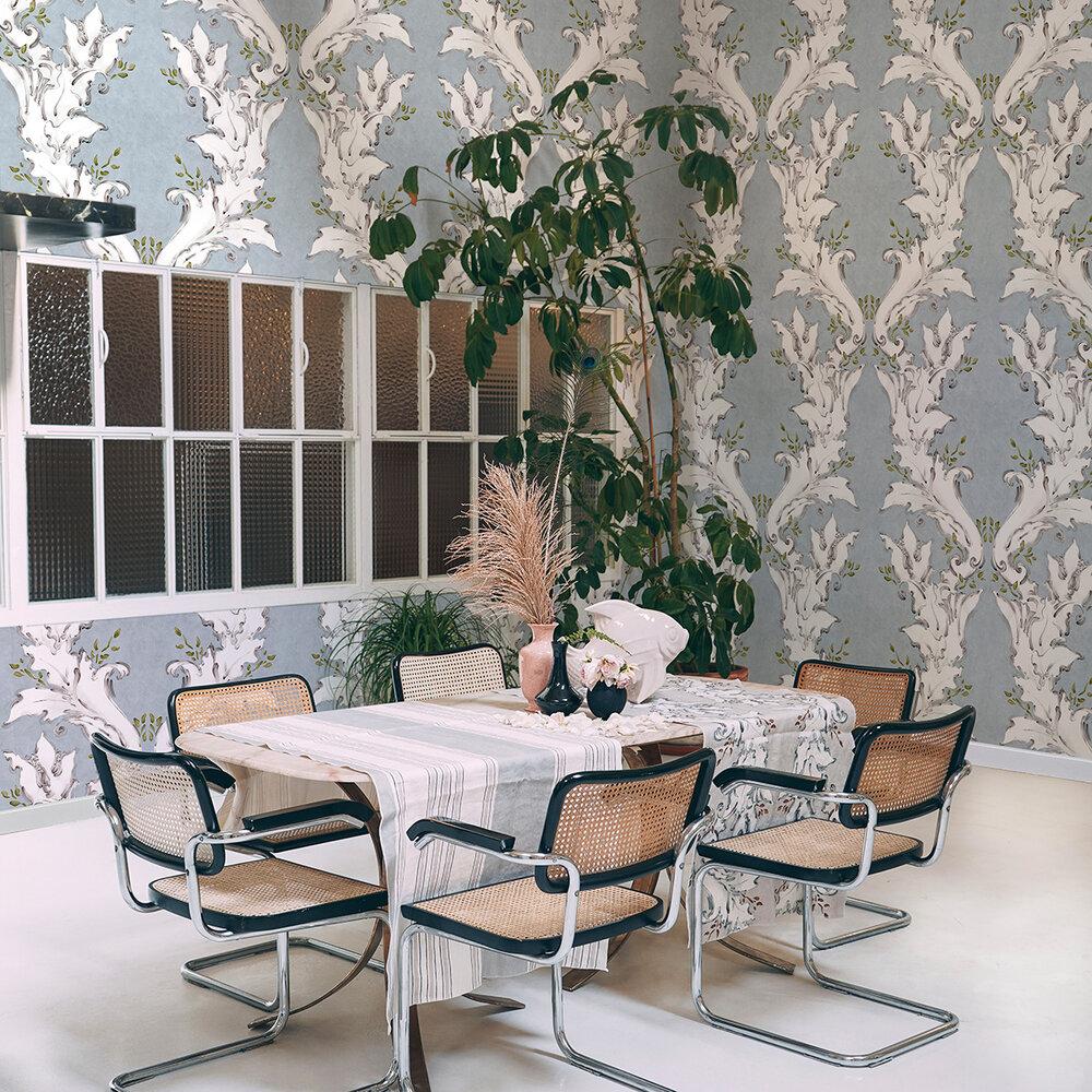 Ornamental Wallpaper - Blue - by Coordonne