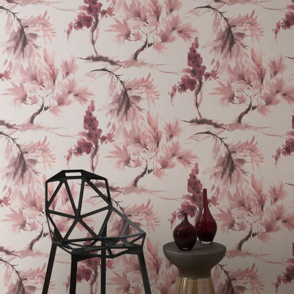 Mimosa Wallpaper - Pink Stucco - by 1838 Wallcoverings