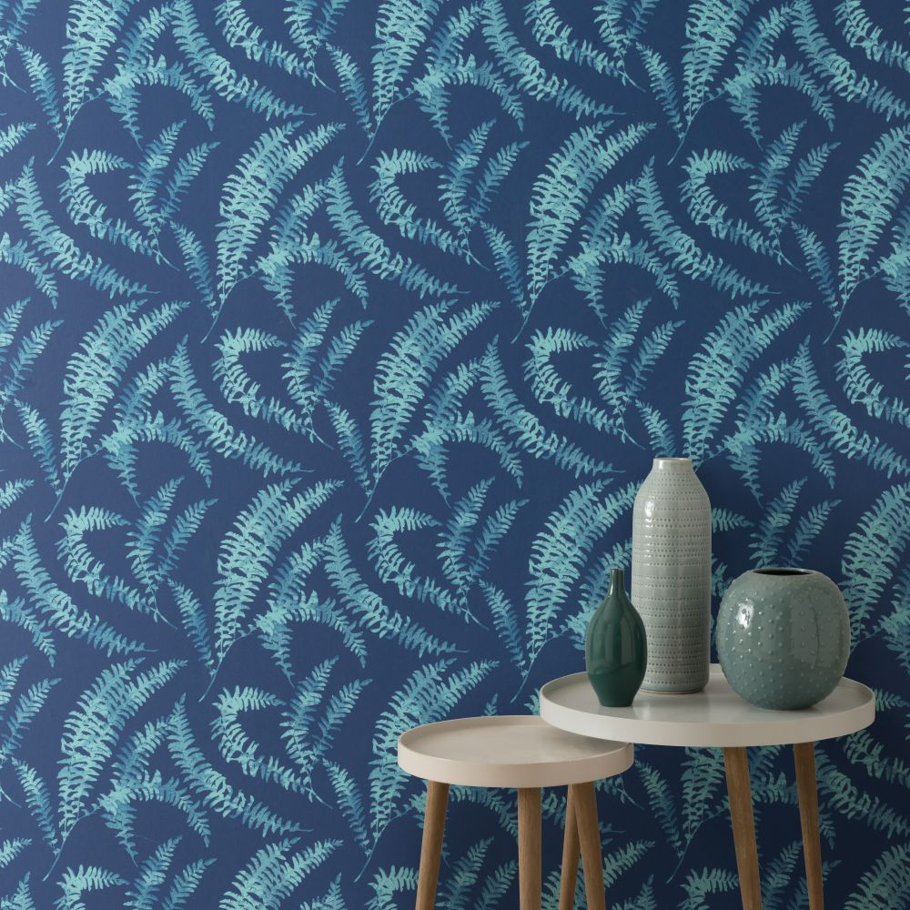 1838 Wallcoverings Felci Azure Wallpaper - Product code: 1905-125-02