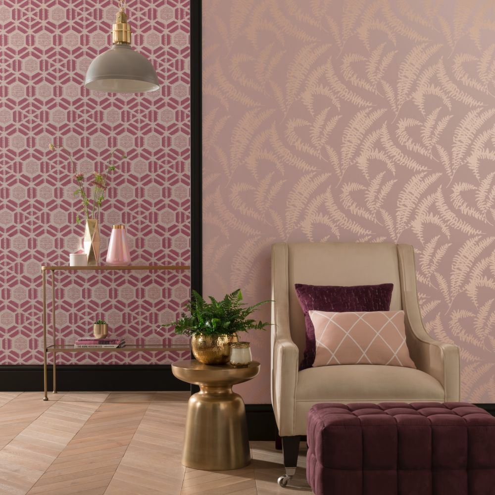 Capri Wallpaper - Pink Stucco - by 1838 Wallcoverings