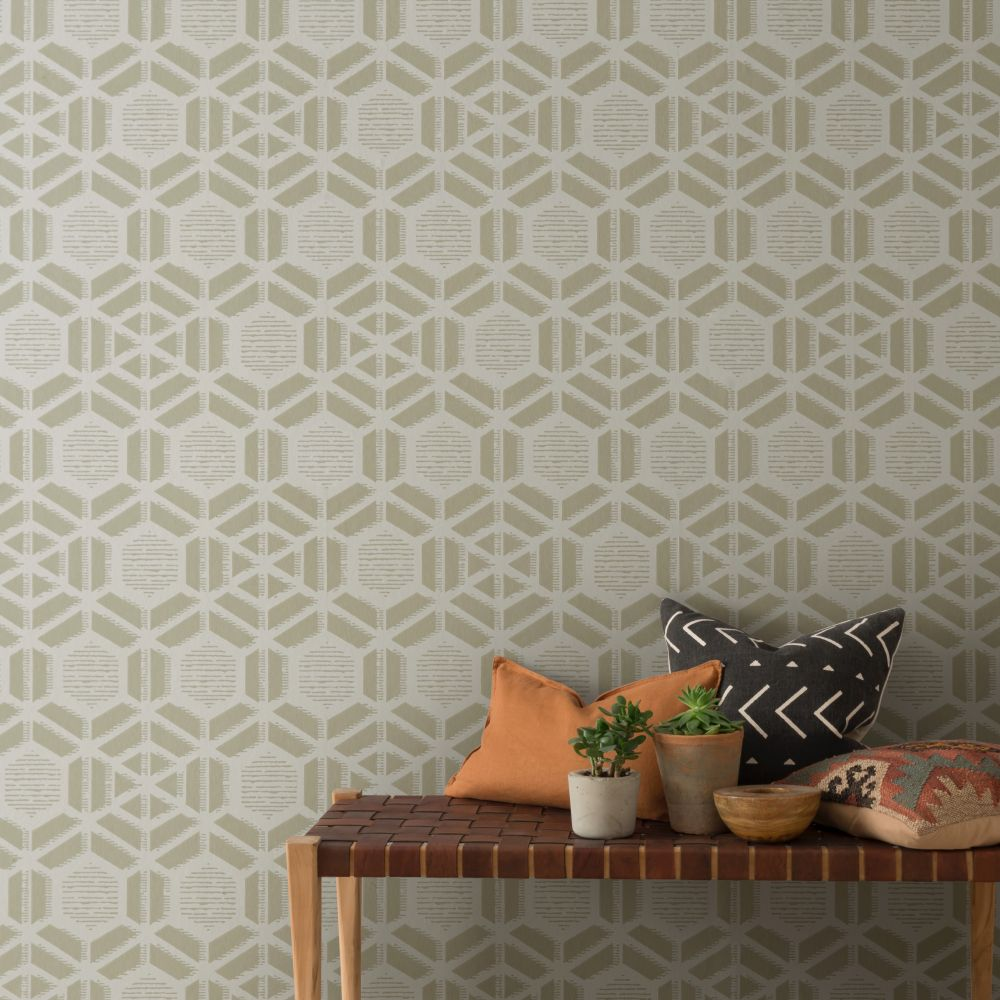 Capri Wallpaper - Sandstone - by 1838 Wallcoverings