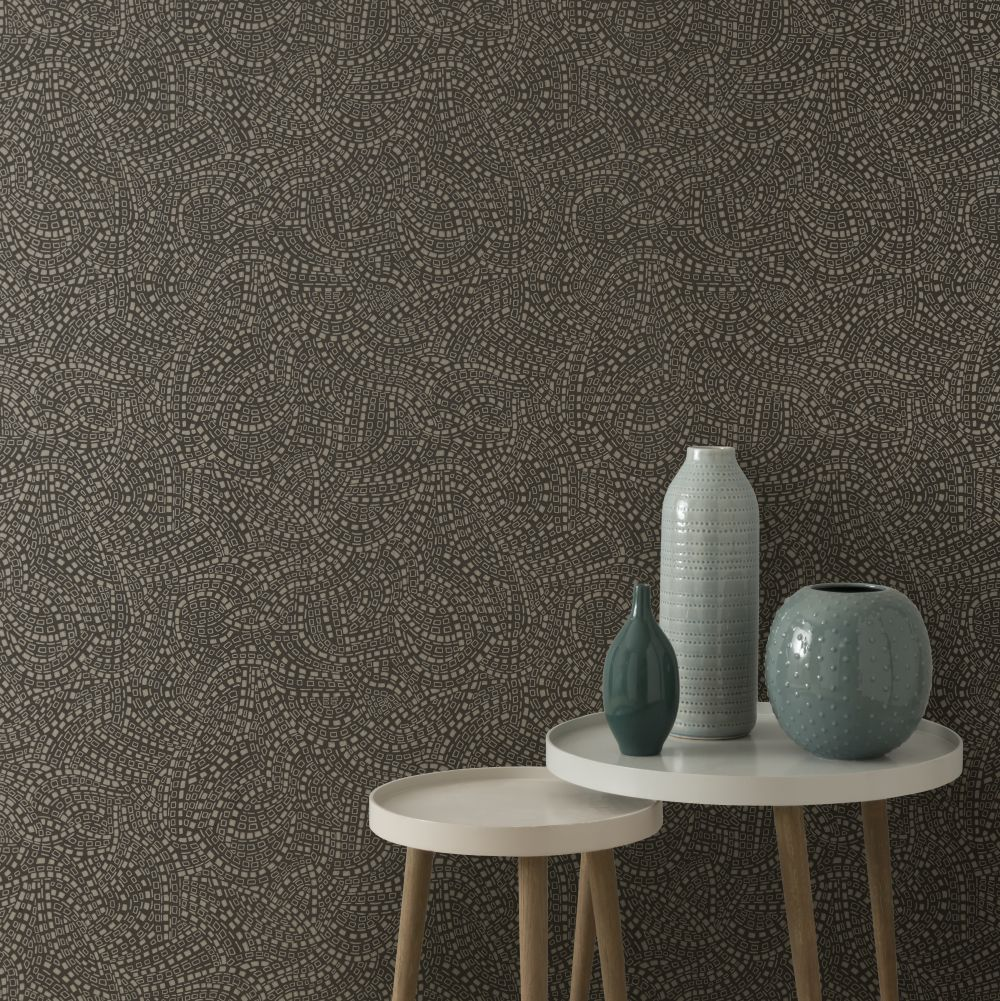 Mosaic Wallpaper - Burnished - by 1838 Wallcoverings